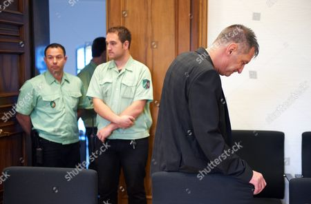 Former German National Soccer Team Goal Keeper Eike Immel (r) Awaits the Start of His Trial at the Regional Court in Dortmund Germany 23 October 2012 the 51 Year Old Former Goalie is Accused of Having Bought Cocaine For Personal Use in 2007 Germany Dortmund