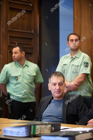 Stock Photo of Former German National Soccer Team Goal Keeper Eike Immel (c) Awaits the Start of His Trial at the Regional Court in Dortmund Germany 23 October 2012 the 51 Year Old Former Goalie is Accused of Having Bought Cocaine For Personal Use in 2007 Germany Dortmund