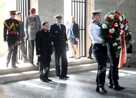 Maltese President George Abela (l) and German Admiral Heinrich Lange Arrive at the Central Memorial of the Federal Republic of Germany For the Victims of War and Dictatorship to Lay Down a Wreath in the Neue Wache (new Guardhouse) in Berlin Germany 11 March 2014 George Abela is on an Official Visit to Germany Germany Berlin