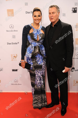 Former Record Swimmer German Franziska Van Almsick (l) and Her Husband Juergen B Harder Arrive For the Bambi Award Ceremony in Duesseldorf Germany 22 November 2012 the Bambis Are the Main German Media Awards and Are Presented For the 64th Time Germany Duesseldorf