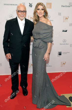 Canadian Singer Celine Dion and Her Husband Rene Angelil Arrive For the Bambi Award Ceremony 2012 in Duesseldorf Germany 22 November 2012 the Bambis Are the Main German Media Awards and Are Presented For the 64th Time Germany Düsseldorf