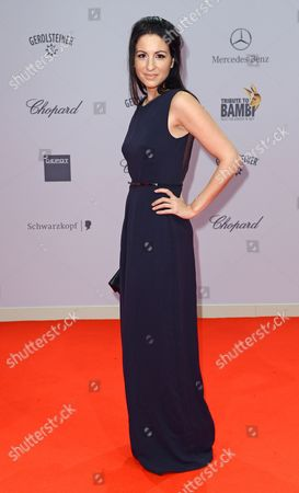 German Producer Minu Barati-fischer Poses on the Red Carpet at the 'Tribute to Bambi' Gala in Berlin Germany 17 October 2013 the Proceeds From the Event Will Benefit the 'Tribute to Bambi' Foundation's Which Supports Needy Children in Germany Germany Berlin