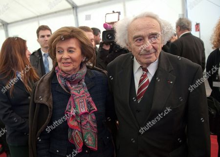 President of the Jewish Community Munich and Former Chairwoman of the Central Council of Jews in Germany Charlotte Knobloch and Survivor of the Holocaust Max Mannheimer Attend the Official Laying of the First Stone of a Documentation Centre For the History of National Socialism in Munich Germany 09 March 2012 More Than 65 Years After the End of the Second World War the Documentation Centre Shall Be Opened in 2014 Germany Munich