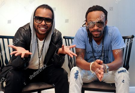 Musicians Yosef Wolde-mariam (l) and Tshawe Baqwa (r) of the Norwegian Hip Hop and Reggae Duo Madcon Pose in Berlin Germany 30 August 2013 Their New Album 'Icon' Will Be Released on 27 September Germany Berlin