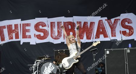 British Charlotte Cooper Double Bass Player of the Indie Rock Band 'The Subways' Performs at the Hurricane Rock Festival in Scheessel Germany 20 June 2014 Eighty Bands Will Perform at the Festival Until 22 June Germany Scheessel