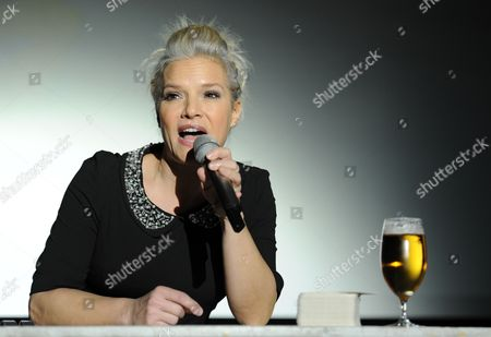 German Singer Ina Mueller Sings During the Presentation of Her New Album 'Live' at Cinemaxx in Hamburg Germany 08 October 2012 the Artist Had Staged the Event Under the Title 'Drop in For a Beer with Ina Mueller ' Germany Hamburg