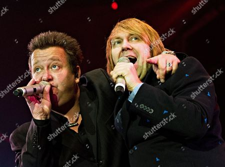 Singers Sebastian Krumbiegel (l) and Tobias Kuenzel of the Band 'Die Prinzen' Perform During the Celebrations For the Day of German Unity in Stuttgart Germany 03 October 2013 the Main Celebrations For the Day of German Unity Took Place in Stuttgart This Year Germany Stuttgart