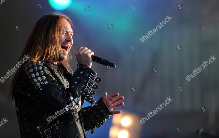 Joacim Cans of Swedish Band Hammerfall Performs at the Wacken Open Air Festival in Wacken Germany 03 August 2012 Germany Wacken