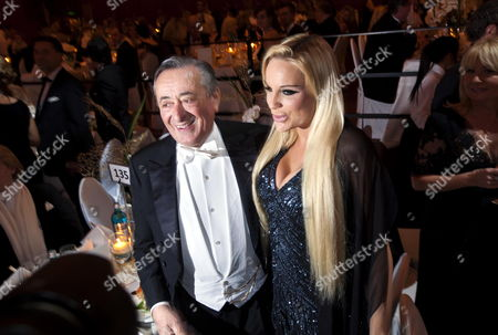 Austrian Entrepreneur Richard Lugner (l) and German Model Gina Lisa Lohfink (r) Pose During the 30th German Opera Ball at the Alte Oper Concert Hall in Frankfurt Germany 25 February 2012 the Opera Ball Expects Around 2 300 Guests From Politics Economics Banks Show and Journalism Germany Frankfurt/main
