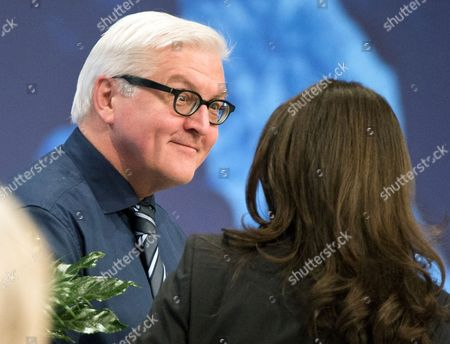 German Foreign Minister Frank-walter Steinmeier (l) Congratulates Yasmin Fahimi (r) After She was Elected As General Secretary of the Social Democrats (spd) During the Spd's Special Meeting in Berlin Germany 26 January 2014 Topics on the Meeting's Agenda Were the Party's Upcoming Extraordinary Party Conference and the European Delegates Meeting Germany Berlin