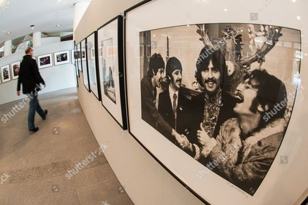 A Photo of the Beatles by Linda Mccartney is Exhibited at the 29th Weiden Literature Days in Weiden i D Oberpfalz Germany 17 April 2013 the Exhibition Shows 85 Photographs by the Deceased Wife of Paul Mccartney Germany Weiden in Der Oberpfalz