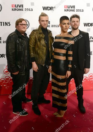 Singer Alina Sueggeler and Further Members of German Band Frida Gold Arrive For the '1 Live Krone 2013' Award Ceremony in Bochum Germany 05 December 2013 Germany Bochum