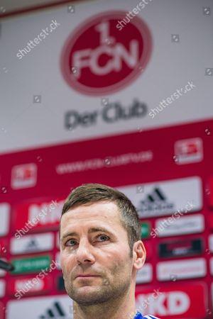 New Coach of the German Bundesliga Soccer Club 1 Fc Nuremberg Michael Wiesinger Attends a Press Conference in Nuremberg Germany 03 January 2013 Germany Nuremberg