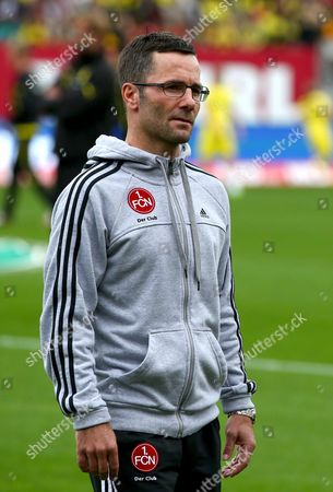 Stock Picture of Nuremberg's Head Coach Michael Wiesinger Prior to the Bundesliga Soccer Match Between 1 Fc Nuremberg and Borussia Dortmund at Grundig Stadium in Nuremberg Germany 21 September 2013 (attention: Due to the Accreditation Guidelines the Dfl Only Permits the Publication and Utilisation of Up to 15 Pictures Per Match on the Internet and in Online Media During the Match ) Germany Nuremberg