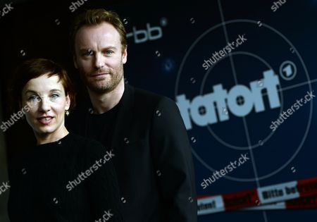 Actors Meret Becker and Mark Waschke (r) Pose During a Photocall in Berlin ágermany 27áfebruary 2014 They Will Be the New Investigative Team in the Tvácrime Series 'Tatort' Starting in October/november 2014 Germany Berlin