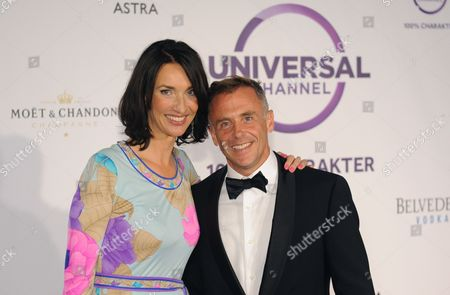 Ceo of Universal Networks International Germany Katharina Behrens and Us Actor David Eigenberg Arrive For the Launch Party of New Pay Tv Chanel Universal Channel in Munich Germany 04 September 2013 Germany Munich