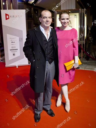 German Actor Martin Wuttke (l) and His Colleague Karoline Herfurth Arrive For the Awarding Ceremony of the German Theater Prize 'Der Faust' at the Opera in Frankfurt Germany 05 November 2011 Germany Frankfurt/main