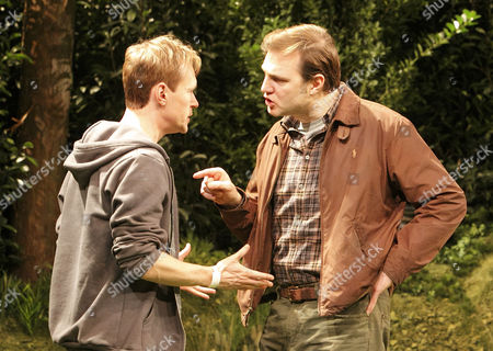 Steven Mackintosh (Drew) and David Morrissey (Terry)