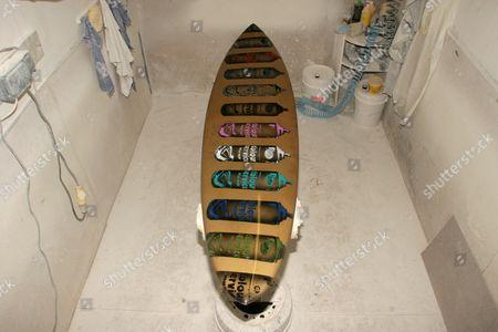 Surfboard designed by Nick Walker