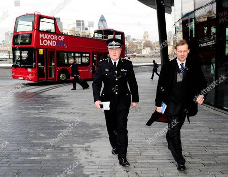 Metropolitan Police Commissioner, Sir Ian Blair leaves.