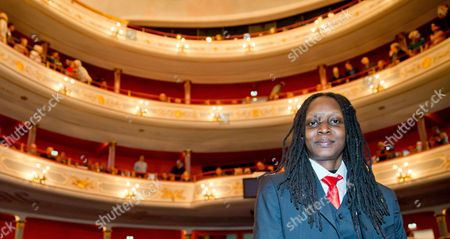 Ugandan Human Rights Activist Kasha Jacqueline Nabagesera Poses For Photos in Nuremberg at the Start of the Awarding Ceremony of the International Nuremberg Human Rights Prize 29 September 2013 the City Honors the Iniatitive of the 33-year-old Activist in Defending and Promoting the Rights of Gays Lesbians and Bisexuals That Face Threats and Violence in Uganda Germany Nuremberg