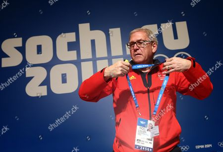 Michael Vesper Chef De Mission of the Team Germany Attends a Press Conference at the Main Media Center (mmc) at the Sochi 2014 Olympic Games Sochi Russia 22 February 2014 Russian Federation Sochi