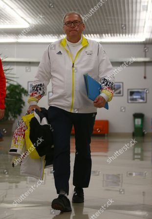 Michael Vesper Chef De Mission of the Team Germany Arrives For a Press Conference at the Main Media Center (mpc) at the Sochi 2014 Olympic Games Sochi Russia 21 February 2014 Biathlete Evi Sachenbacher-stehle of Germany Had a Positive Doping Test For the Stimulant Methylhexanamine in Both Her 'A'' and 'B'' Samples the German Olympic Association Dosb Said Russian Federation Sochi