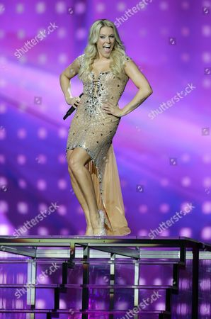 Singer Natalie Horler of the Band 'Cascada' Representing Germany Performs Her Song 'Glorious' During Rehearsals For the 58th Annual Eurovision Song Contest at the Malmo Arena in Malmo Sweden 15 May 2013 the Grand Final Will Take Place on 18 May Sweden Malmo
