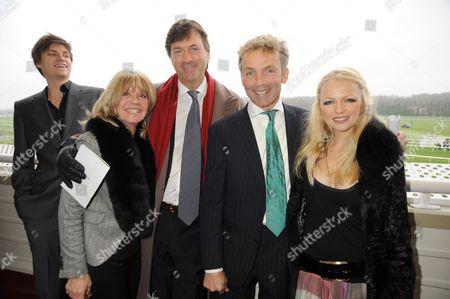 Richard Madeley and son Jack Madley with John Francombe and Hannah Sandling
