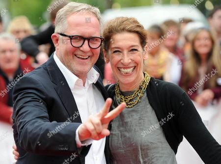 Austrian Actors Harald Krassnitzer (l) and Adele Neuhauser (r) Arrive For the Grimme Awards (grimme-preis) Ceremony 2014 in Marl Germany 04 April 2014 Germany Cologne