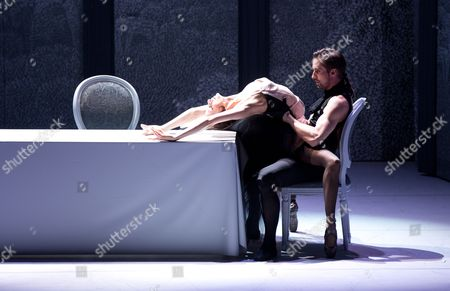 Stock Picture of Italian Ilenia Montagnoli (l) and Croatian Leonard Jakovina (r) Perform During a Photocall of the Ballet 'Don Juan' at the Komische Oper in Berlin Germany 19 June 2014 the Play by Italian Director Giorgio Madia Will Premiere on 21 June Germany Berlin