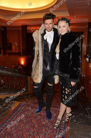 Designer Andre Borchers (l) and Elna-margret Zu Bentheim Arrive For the Elle Nuit Privee at the Russian Embassy in Berlin Germany 14 January 2014 German Magazine Elle at the Event Introduced Russian Designer Alena Akhmadullina who Presented Her Collection at the Mercedes-benz Fashion Week Berlin the Same Day Fall/winter 2014/2015 Collections Are Showcased at the Fashion Week From 14 to 19 January German Magazine Elle at the Event Introduced Russian Designer Alena Akhmadullina Die Auf Einer Modenschau Der Mercedes-benz Fashion Week Ihre Kollektion Vorstellte Germany Berlin