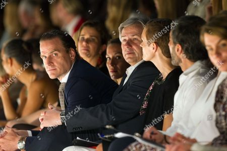 Stock Photo of John Cloppenburg (l) Member of the Executive Management of Peek and Cloppenburg Berlin Mayor Klaus Wowereit (c) and Us Fashion Designer Marc Jacobs (2-r) Attend the Designer For Tomorrow Award Show During the Mercedes-benz Fashion Week in Berlin Germany 04 July 2012 the Presentation of the Spring/summer 2013 Collections Takes Place From 04 to 07 July Germany Berlin