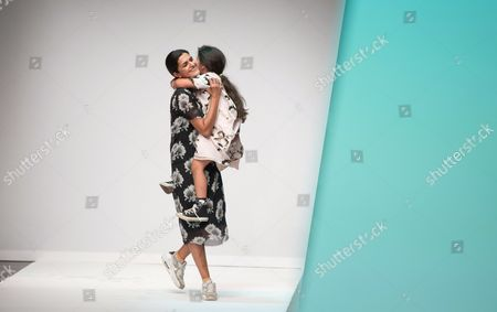 German-iranian Designer Leyla Piedayesh Appears on the Catwalk with Her Daugher After the Presentation of the Spring/summer 2015 Collection For Her Label Lala Berlin at the Mercedes-benzáfashion Week in Berlin ágermany 09 July 2014 the Event Runs From 08 to 11 July Germany Berlin