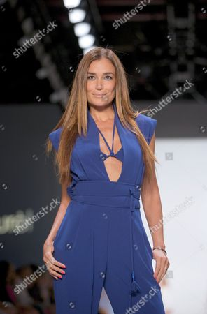 Brazilian Model and Television Presenter Jana Ina Zarrella Presents a Creation by German Designer Elisabeth Schwaiger For the Label Laurel at the Mercedes-benz Fashion Week in Berlin Germany 10ájuly 2014 the Presentation of the Spring/summer 2015 Collections Runs From 08 to 11 July Germany Berlin