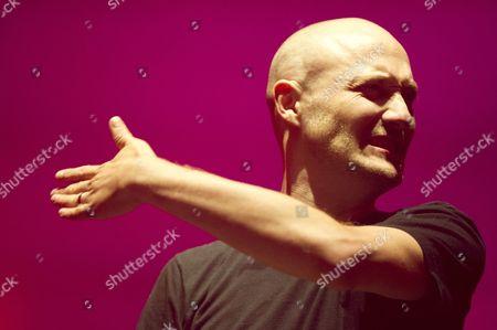 Dj Paul Kalkbrenner Gestures During His Performance on Stage at the Berlin Festival in Berlin Germany 08 September 2012 the Berlin Festival is Part of the Berlin Music Week at the Former Tempelhof Airport Germany Berlin