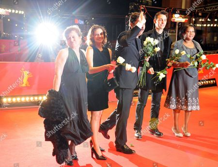 Actors Teresa Madruga (l-r) Ana Moreira Portugese Director Miguel Gomes and Actors Ivo Mueller and Isabel Cardoso Arrive For the Premiere of Their Movie 'Tabu' During the 62nd Berlin International Film Festival in Berlin Germany 14 February 2012 the Movie is Presented in Competition at the 62nd Berlinale That Runs From 09 to 19 February Germany Berlin