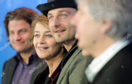 (l-r) Producer Felix Vossen British Actress Charlotte Rampling Director Barnaby Southcombe and Co-producer Michael Eckelt Attend the Photocall For the Movie 'I Anna' During the 62nd Berlin International Film Festival in Berlin Germany 12 February 2012 the Movie is Presented in the Section Berlinale Special at the 62nd Berlinale Running From 09 to 19 February Germany Berlin