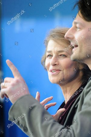 British Actress Charlotte Rampling and Director Barnaby Southcombe Attend the Photocall For the Movie 'I Anna' During the 62nd Berlin International Film Festival in Berlin Germany 12 February 2012 the Movie is Presented in the Section Berlinale Special at the 62nd Berlinale Running From 09 to 19 February Germany Berlin