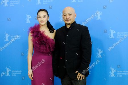 Chinese Actress Zhang Yuqi (l) and Chinese Director Wang Quan'an Pose During the Photocall For Their Movie 'White Deer Plain (bai Lu Yuan)' During the 62nd Berlin International Film Festival in Berlin Germany 15 February 2012 the Movie is Presented in Competition at the 62nd Berlinale That Runs From 09 to 19 February Germany Berlin