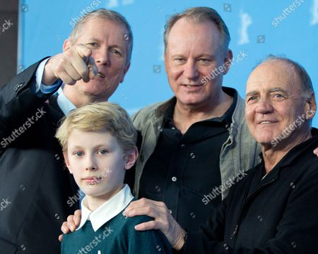 Stock Photo of Norwegian Director Hans Petter Moland (l-r) Jack Moland Swedish Actor Stellan Skarsgard and Swiss Actor Bruno Ganz Pose During the Photocall For 'Kraftidioten' (in Order of Disapperance) at the 64th Annual Berlin Film Festival in Berlin Germany 10 February 2014 the Movie is Presented in the Official Competition of the Berlinale Which Runs From 06 to 16 February 2014 Germany Berlin