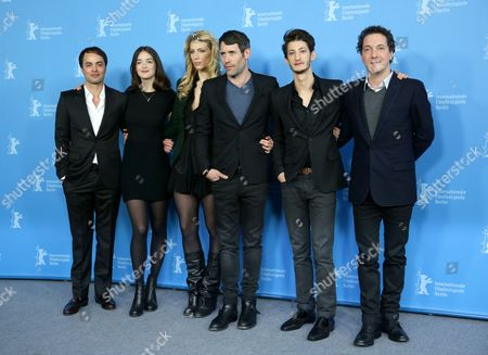 (l-r) French Actors Nikolai Kinski Marie De Villepin Director Jalil Lespert Actors Pierre Niney and Guillaume Gallienne Pose During the Photocall For 'Yves Saint Laurent' at the 64th Annual Berlin Film Festival in Berlin Germany 07 February 2014 the Movie is Presented in the Panorama Section of the Berlinale Which Runs From 06 to 16 February 2014 Germany Berlin