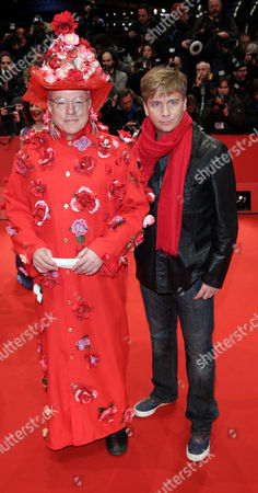 Stock Photo of German Director Rosa Von Praunheim (l) and His Companion Oliver Sechting Arrive For the Screening of 'The Grand Budapest Hotel' During the 64th Annual Berlin Film Festival in Berlin Germany 06 February 2014 the Movie is Presented in the Official Competition of the Berlinale Which Runs From 06 to 16 February 2014 Germany Berlin