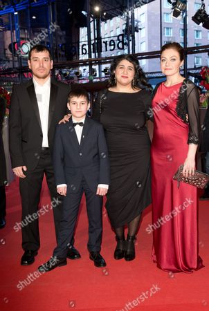 Actors Aslan Elbiev (l-r) Ramasan Minkailov Austrian Film Maker Sudabeh Mortezai and Actress Kheda Gazieva Arrive For the Premiere of the Film 'Macondo' at the 64th Berlinale in Berlin Germany 14 February 2014 the Movie is Presented in the Official Competition of the Berlinale Which Runs From 06 to 16 February 2014 Germany Berlin