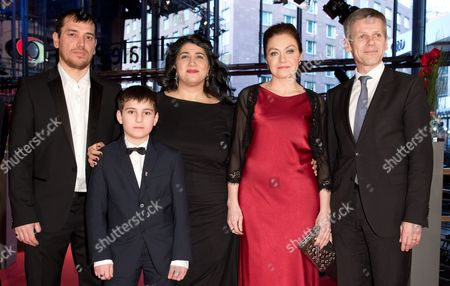 Actors Aslan Elbiev (l-r) Ramasan Minkailov Austrian Film Maker Sudabeh Mortezai Actress Kheda Gazieva and Austrian Chancellery Minister Josef Ostermayer Arrive For the Premiere of the Film 'Macondo' at the 64th Berlinale in Berlin Germany 14 February 2014 the Movie is Presented in the Official Competition of the Berlinale Which Runs From 06 to 16 February 2014 Germany Berlin
