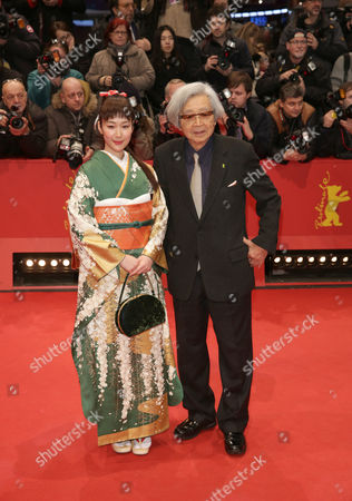 Japanese Director Yoji Yamada (r) and Actress Haru Kuroki (l) Arrive For the Closing and Awards Ceremony of the 64th Annual Berlin Filmáfestival in Berlin ágermany 15 February 2014 the Berlinale Festival Runs Until 16 February Germany Berlin