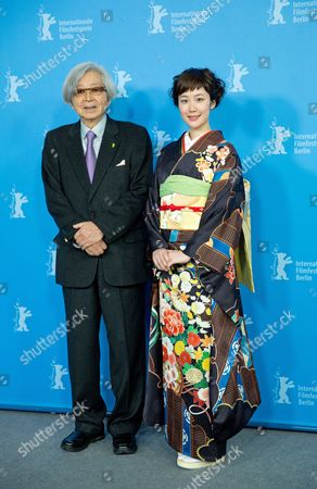 Japanese Director Yoji Yamada (l) and Compatriot Actress /cast Member Haru Kuroki Pose During the Photocall For 'Chiisai Ouchi' (the Little House) at the 64th Annual Berlin Filmáfestival in Berlin Germany 14 February 2014 the Movie is Presented in the Official Competition of the Berlinale Which Runs From 06 to 16 February 2014 Germany Berlin