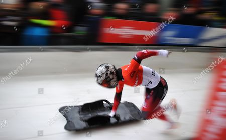 Canada's Sarah Reid in Action During the Skeleton World Cup in Winterberg ágermany 04 January 2014 She Came in Third Place Germany Winterberg