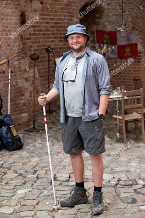 German Actor Devid Striesow Poses During the Shooting of 'I'm Off Then' in Berlin-spandau Germany 11 August 2014 the Besteller of the Same Name by Entertainer Kerkeling is Being Made Into a Film Which Will Come to German Cinemas in 2015 Germany Berlin