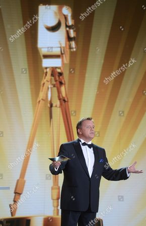 German Comedian and Presenter Hape Kerkeling Speaks During the 48th Golden Camera Award Ceremony in Berlin Germany 02 February 2013 the Awards Honor Outstanding Achievements in Television Film and Entertainment Germany Berlin